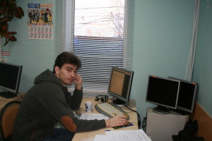 Ivan Zavyalov, a member of the 1st round of the Olympiad on web-programming