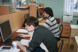 Vadim Kiselev and Zubakov Alexander, the participants of the 1st round of the Olympiad on web-programming
