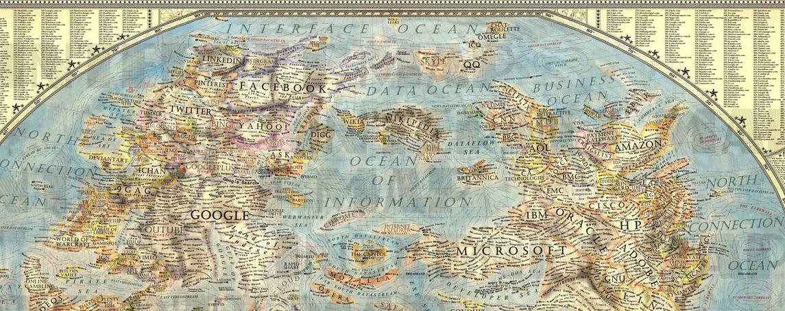 """""""Карта"""" современного Интернета"""